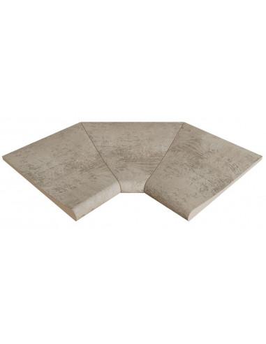 ESQUINA interior curva stela grey porcelanico rosagres