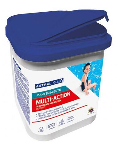 Cloro multiacción. Tabletas de 250g, 5kg. ASTRALPOOL