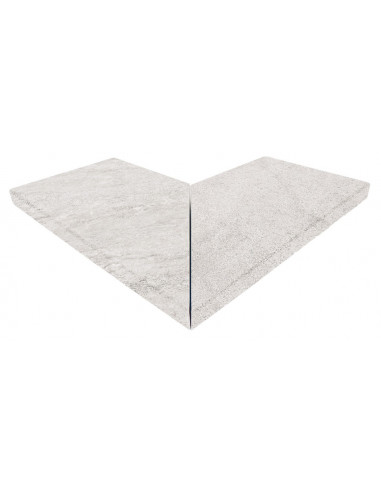 CARTABON EXTERIOR PELDAÑO RECTO EVO SERIE white stone PIEDRA GRESMANC