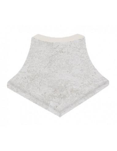 ESQUINA EXTERIOR SERIE white stone PIEDRA GRESMANC