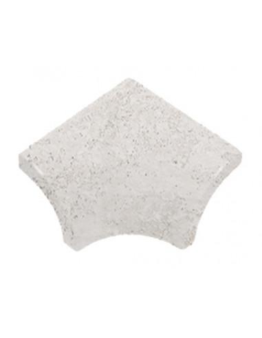 ESQUINA INTERIOR MEDIA CAÑA SERIE white stone PIEDRA GRESMANC