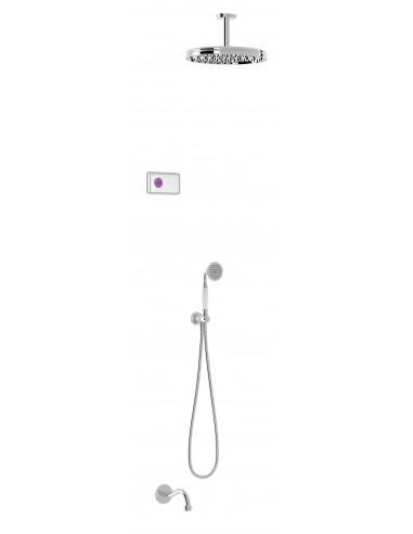 Kit grifo termostático electrónico empotrado 3 vías Shower Technology Blue Edition bañera ducha CLASIC TRES 09226302