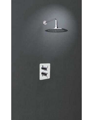 Conjunto empotrado mural termostático 1 vía  con rociador K9324012 rs-q ramon soler