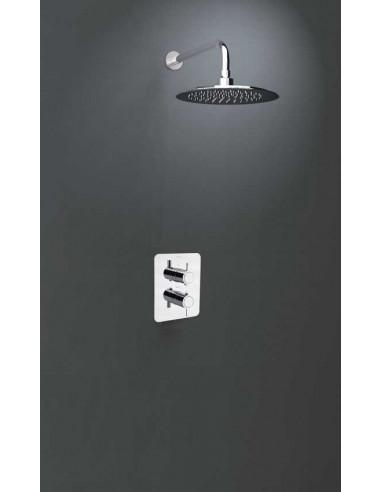 grifo empotrado 1 vía termostático rociador mural K3324012 drako ramon soler