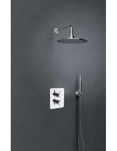 Conjunto grifo termostático empotrado mural 2 vías K3387011 drako ramon soler