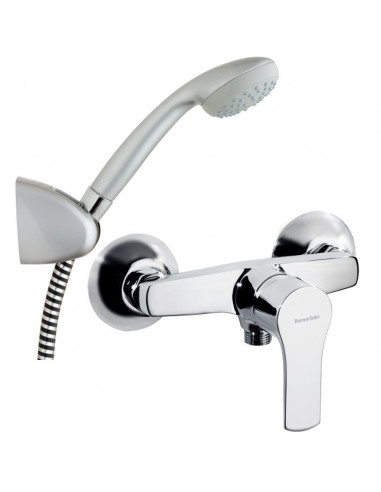 Grifo monomando baño ducha 1808VP titanium ramon soler
