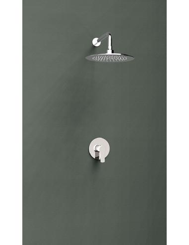 Grifo ducha monomando empotrado mural de 1 vía K1818013 titanium ramon soler