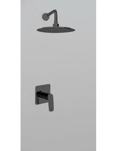 Grifo para ducha monomando empotrado 1 via K5718012NM negro mate new fly ramon soler