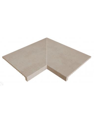 ESQUINA interior recta stela white porcelanico rosagres