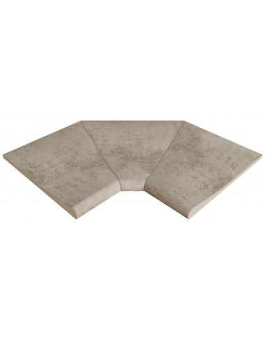 ESQUINA interior curva stela white porcelanico rosagres