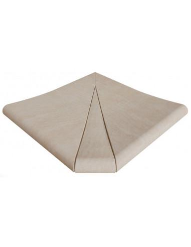ESQUINA exterior curva stela white porcelanico rosagres