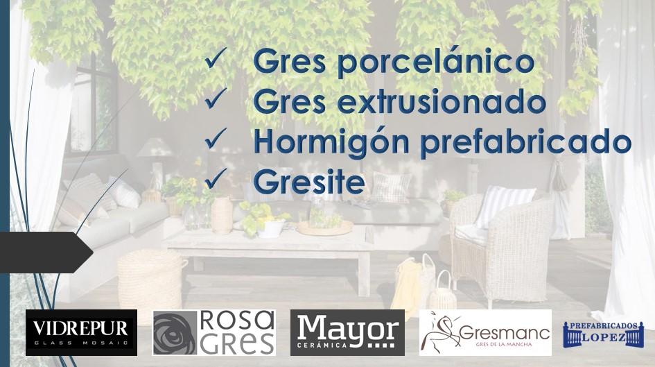 GRES, PORCELANICO, HORMIGON PREFABRICADO Y GRESITE